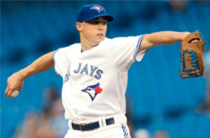 Toronto Blue Jays starting pitcher Aaron Sanchez works against the Boston Red Sox during first inning MLB baseball action in Toronto on Friday, May 8, 2015. THE CANADIAN PRESS/Darren Calabrese