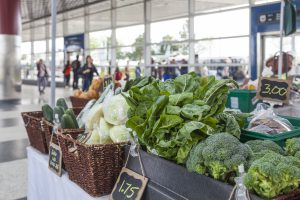 The Grab Some Good produce market at Downsview TTC station.
