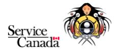 Logos of Service Canada and Miziwe Biik