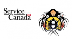 Service Canada and Miziwe Biik logos