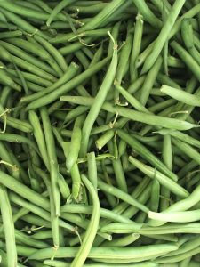 Overhead photo of green beans